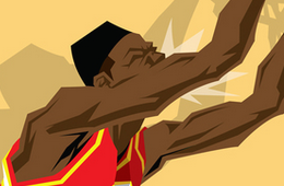 Dominique Wilkins 'Highlight Reel' Caricature Art