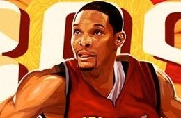 Chris Bosh 'Red Hot' Illustration