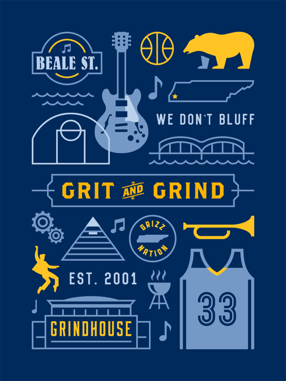 Memphis Grizzlies 'Grit and Grind' Poster