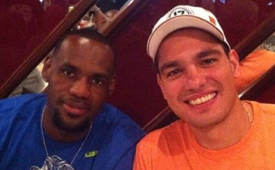 LeBron James In Brazil With Anderson Varejao