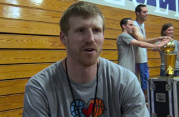 Matt Bonner Takes the Larry O'Brien Trophy to New Hampshire
