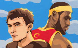 LeBron James x Johnny Manziel Painting
