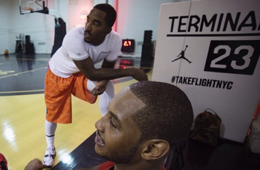 Carmelo Anthony and JR Smith Play Pick-up at Terminal 23