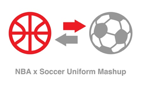 NBA x Soccer Uniform Mashup
