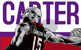 Vince Carter Vinsanity Illustration