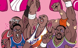 90's NBA Tough Guys Illustration