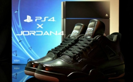 Air Jordan 4 x PS4 Custom