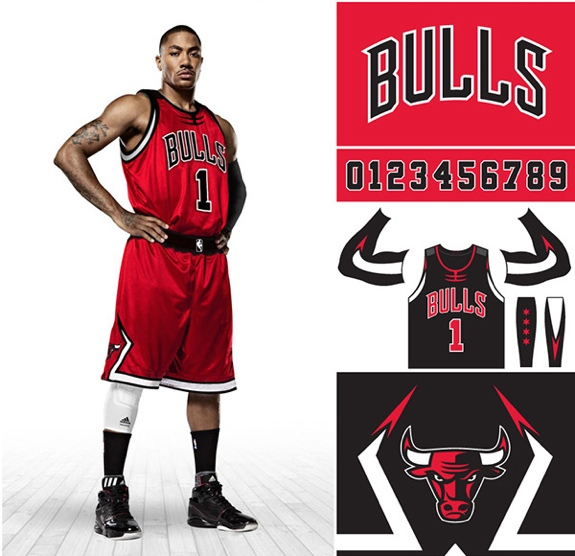 Chicago Bulls Uniform and Logo Rebrand Concept
