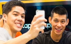 Jeremy Lin Meets With Fans At Westfield Mall In Culver City