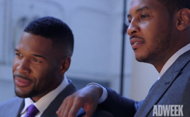 Michael Strahan Interviews Carmelo Anthony For Adweek