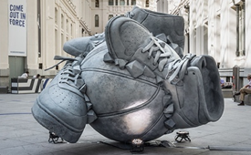 Nike 'Come Out In Force' Sneakerball Sculpture
