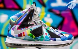 Nike LeBron X 'Shattered Prism' Customs