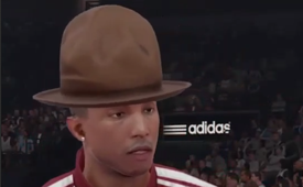 Meet Pharrell Williams Face-to-Face In NBA 2K15