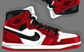 Air Jordan One Caricature Art
