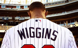 Andrew Wiggins Throws Out First Pitch at Twins Game