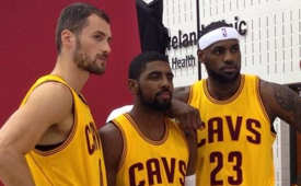 Cavs Big Three Of Kevin Love, Kyrie Irving and LeBron James First Picture
