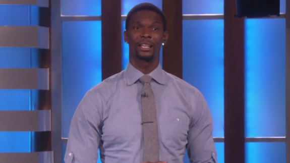 Chris Bosh Was the Guest DJ on The Ellen DeGeneres Show