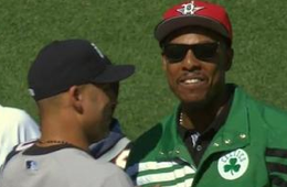 Paul Pierce Represented the Boston Celtics In Farewell to Derek Jeter at Fenway