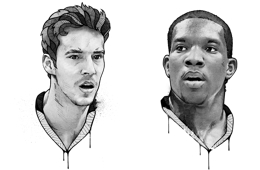 Goran Dragic and Eric Bledsoe ESPN Magazine Portraits