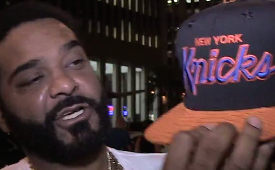Jim Jones Shows Off His $1500 Knicks Hat