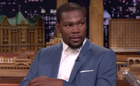Kevin Durant Talks Using LeBron James In NBA 2K15 On Jimmy Fallon