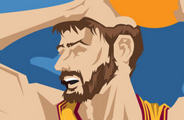 Kevin Love 'Zero' Caricature Art