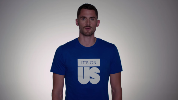 Kevin Love 'It's On Us' Stop Sexual Assault PSA