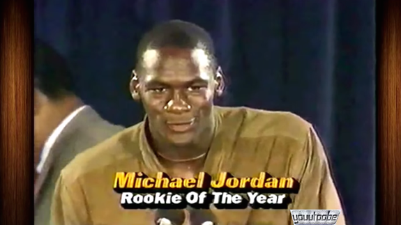 Michael Jordan 1985 Rookie of the Year Speech