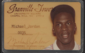 Michael Jordan North Carolina Meal Card