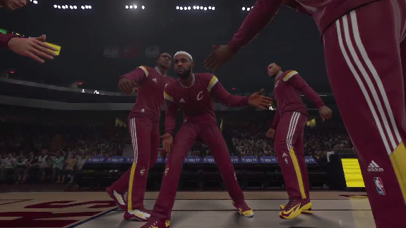 NBA 2K15 Cleveland Cavaliers Player Introductions