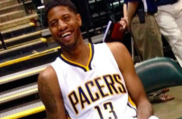 Paul George Arrives at Pacers Camp Minus the Crutches