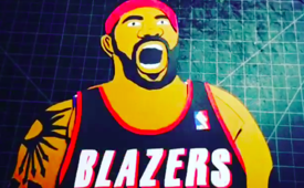 Rasheed Wallace Jersey Changing Roar Art