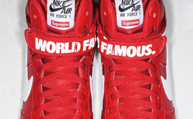 Supreme x Nike Air Force 1 High 'Red'