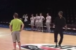 Tony Parker Nails a No Look Halfcourt Shot