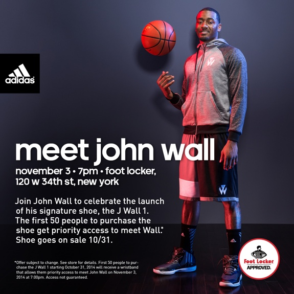 John Wall to Celebrate J Wall 1 Release with Fans In New York