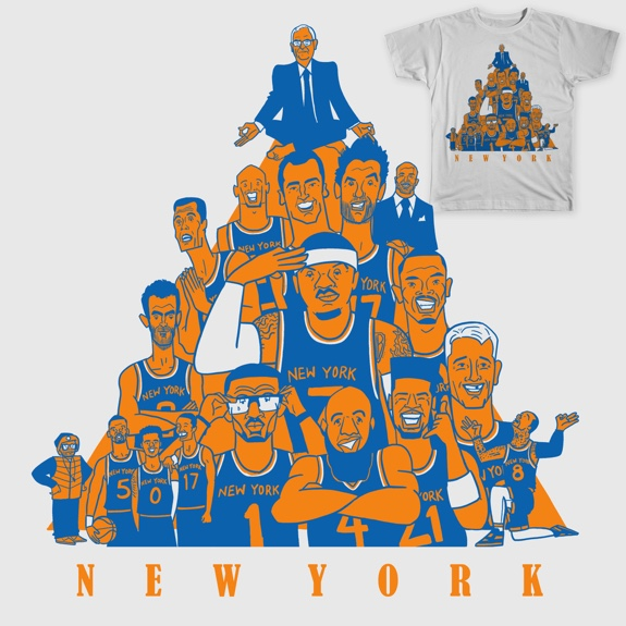 Knicks 'Zen Master's Triangle' Tee