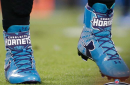Cam Newton Rocks Some Hornets Inspired Cleats