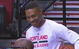 Damian Lillard Helps Man Propose Before Game