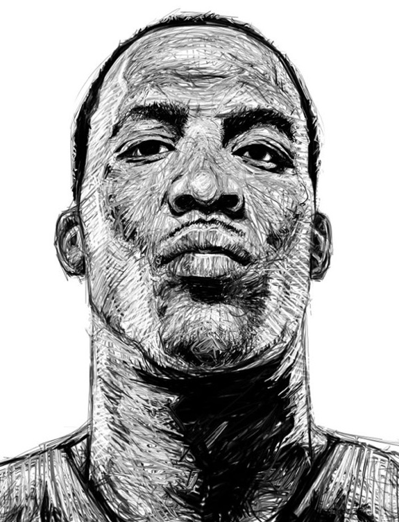 Dwight Howard 'Black and White' Sketch