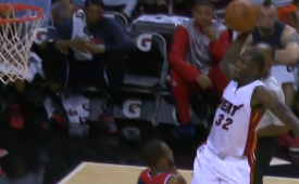 James Ennis Dunks All Over Rasual Butler