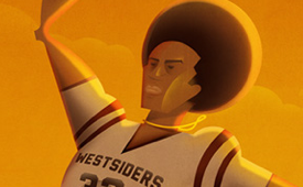 Julius Erving 'Dr.J In the Park' Illustration
