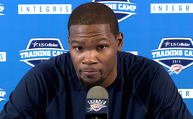Kevin Durant Addresses Media For First Time Since Injury