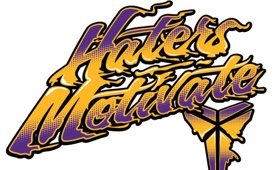 Kobe Bryant 'Haters Motivate' Typography