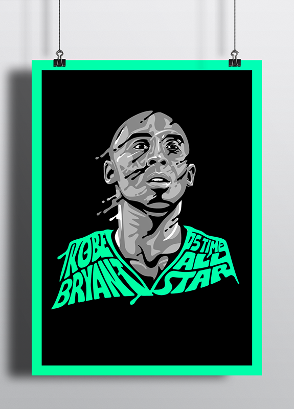 Kobe Bryant and LeBron James 'Sweat It Out' Illustrations