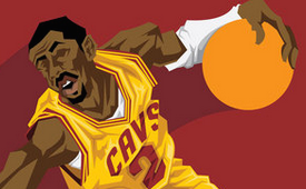 Kyrie Irving 'Crossover' Caricature Art