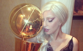 Lady Gaga x San Antonio Spurs x Larry O'Brien Trophy