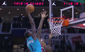 Lance Stephenson Dunks On Larry Sanders