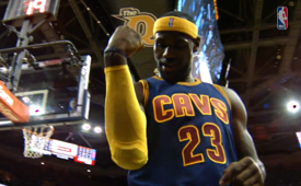 LeBron James Scores First Basket Of His Return