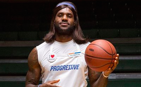 LeBron James Is Flo From Progessive For Halloween