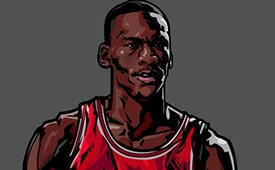 Michael Jordan x Air Jordan Caricature Art